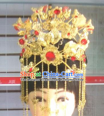 Chinese Traditional Beijing Opera Diva Hair Accessories Ancient Bride Phoenix Coronet Headwear for Women