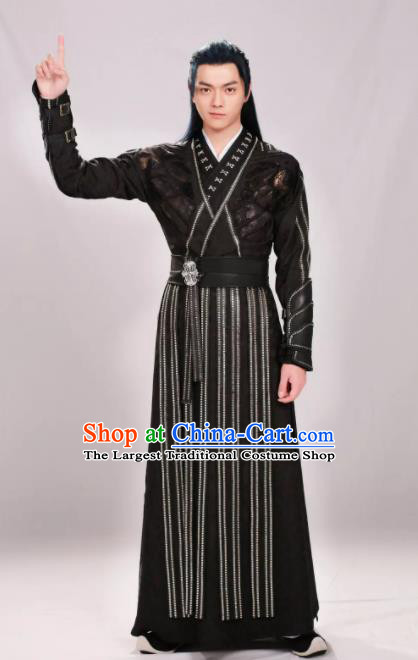 Drama Zhao Yao Chinese Ancient Knight Swordsman Faction Master Replica Costume for Men