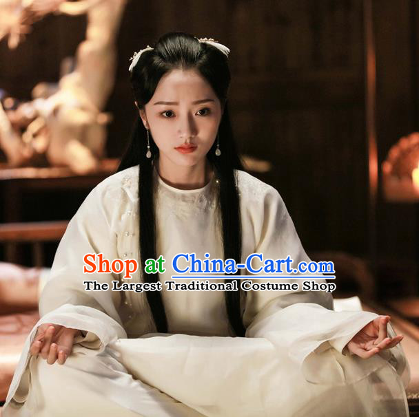 Chinese Ancient Royal Princess Embroidered Hanfu Dress Drama Zhao Yao Swordswoman Traditional Costume and Headpiece for Women