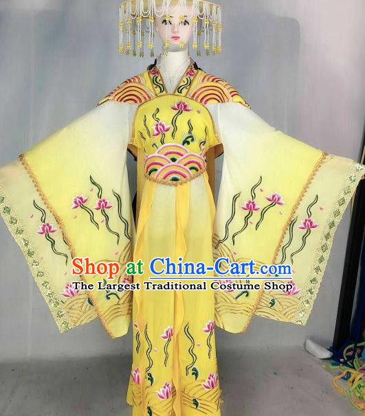 Chinese Traditional Beijing Opera Diva Embroidered Dress Ancient Dragon Princess Costume for Women