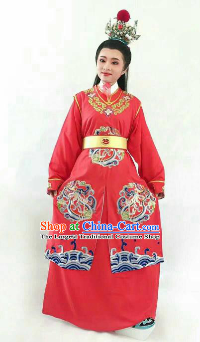 Chinese Traditional Beijing Opera Niche Jia Baoyu Red Clothing Ancient Nobility Childe Embroidered Costume for Men