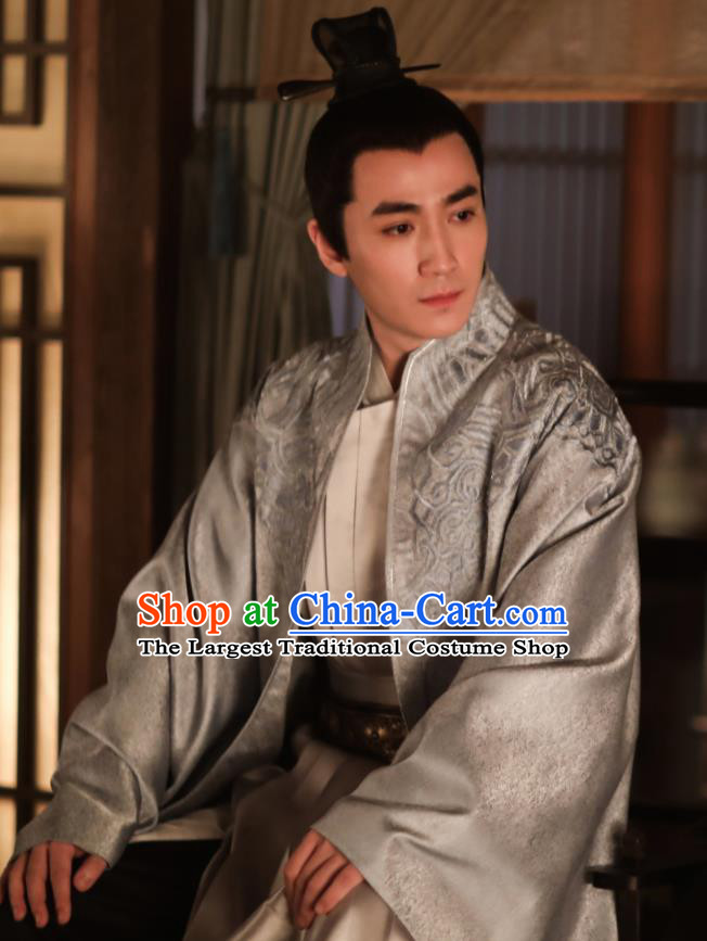 Chinese Song Dynasty Nobility Childe Embroidered Clothing Drama The Story Of MingLan Ancient Scholar Replica Costume for Men