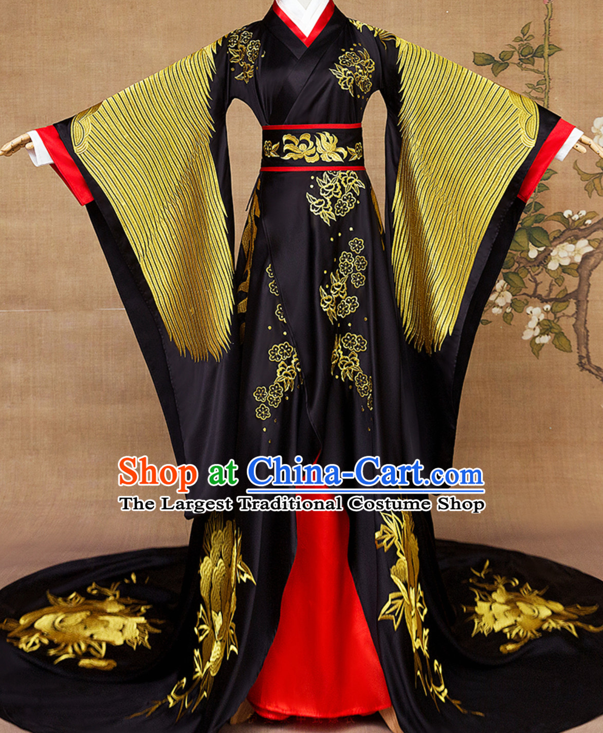 Ancient Chinese Empress Embroidered Phoenix Royal Clothing Complete Set