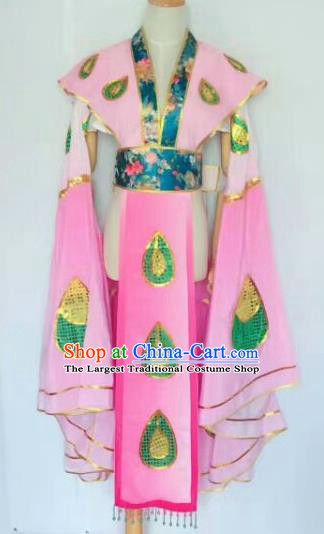 Chinese Traditional Peking Opera Artiste Costume Ancient Peri Embroidered Pink Butterfly Dress for Women