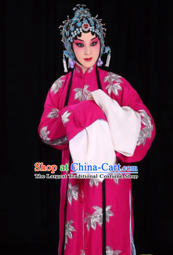 Professional Chinese Traditional Beijing Opera Diva Costume Ancient Princess Rosy Dress for Adults