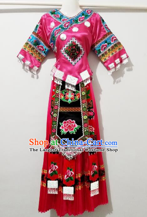 Chinese Traditional Ethnic Costume Miao Nationality Wedding Dress for Women