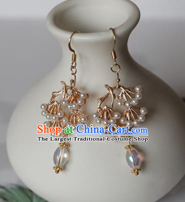 Chinese Traditional Hanfu Ear Accessories Ancient Princess Pine Earrings for Women