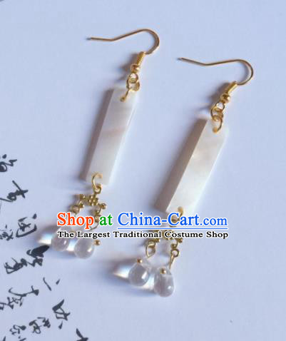 Chinese Traditional Hanfu Ear Accessories Ancient Princess Hanfu Jade Earrings for Women