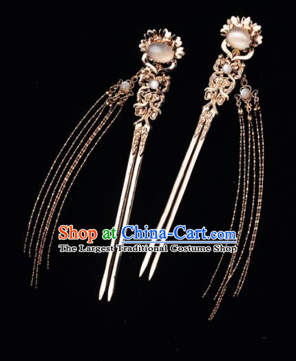 Chinese Ancient Princess Tassel Hairpins Traditional Hanfu Palace Hair Accessories for Women