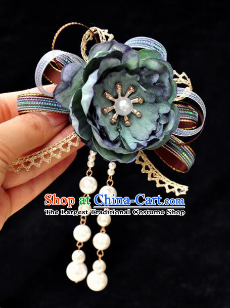 Chinese Ancient Princess Flower Hairpins Traditional Hanfu Palace Hair Accessories for Women