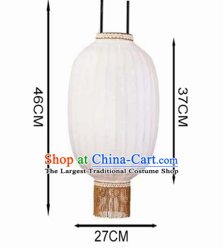 Chinese Traditional Handmade Lantern Bamboo Weaving 16 Inch White Lampbrella Palace Lanterns
