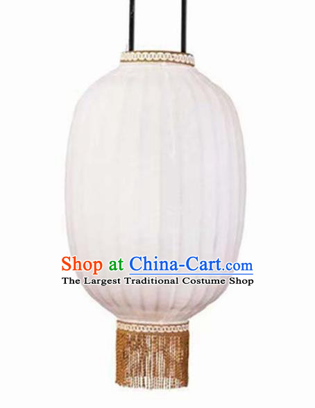 Chinese Traditional Handmade Bamboo Weaving Lantern 32 Inch White Lampbrella Palace Lanterns
