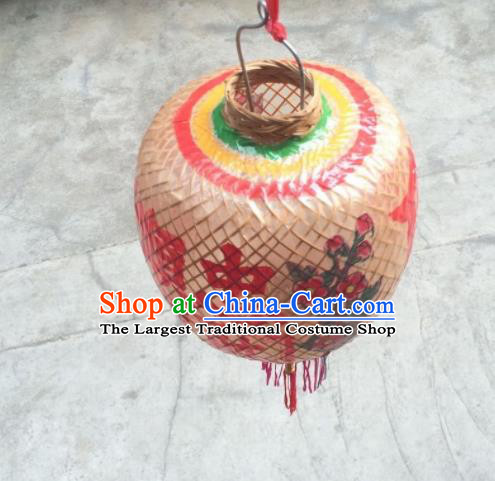 Chinese Traditional Bamboo Weaving Lantern Handmade Dragon Pattern Oil Paper Palace Lanterns
