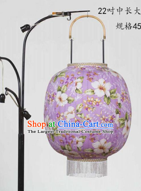 Chinese Traditional New Year Hanging Lantern Handmade Purple Palace Lanterns