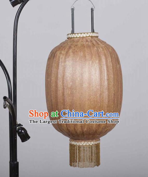 Chinese Traditional New Year Hanging Lantern Handmade Brown Oil Paper Palace Lanterns