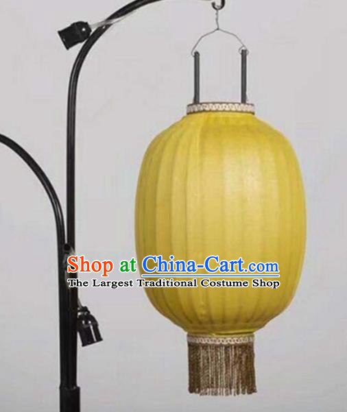 Chinese Traditional Yellow Hanging Lantern Handmade New Year Palace Lanterns