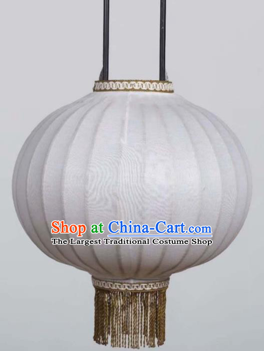 Chinese Traditional White Paper Lantern Handmade New Year Bamboo Weaving Lanterns