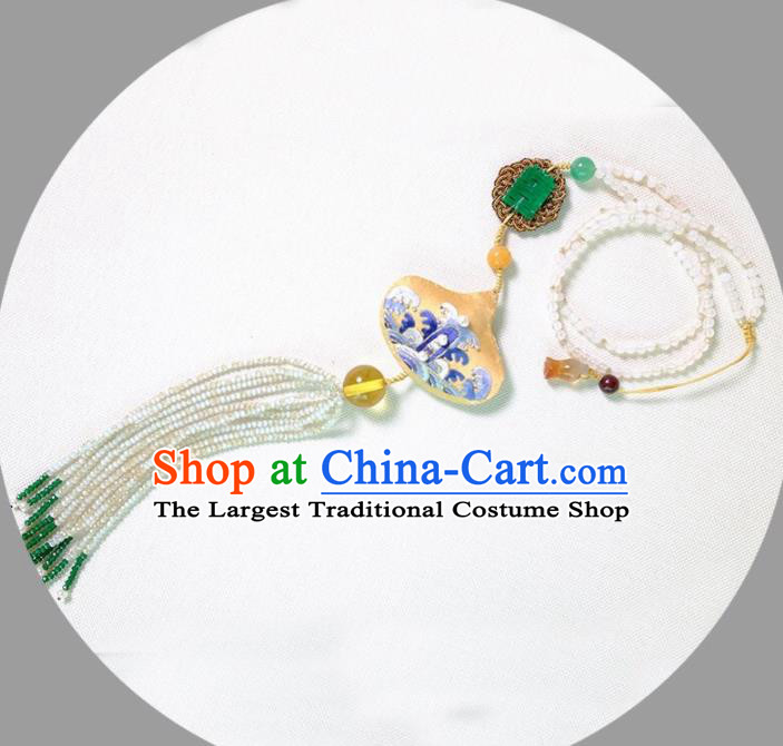 Chinese Traditional Accessories Classical Embroidered Tassel Necklace for Women