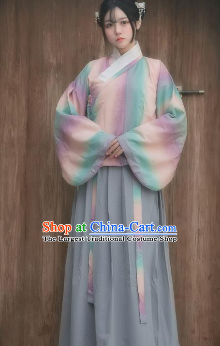 Chinese Ancient Hanfu Dress Ming Dynasty Palace Lady Traditional Historical Costume for Women