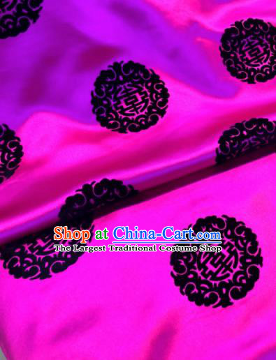 Chinese Traditional Buddhism Round Pattern Design Rosy Brocade Silk Fabric Tibetan Robe Fabric Asian Material