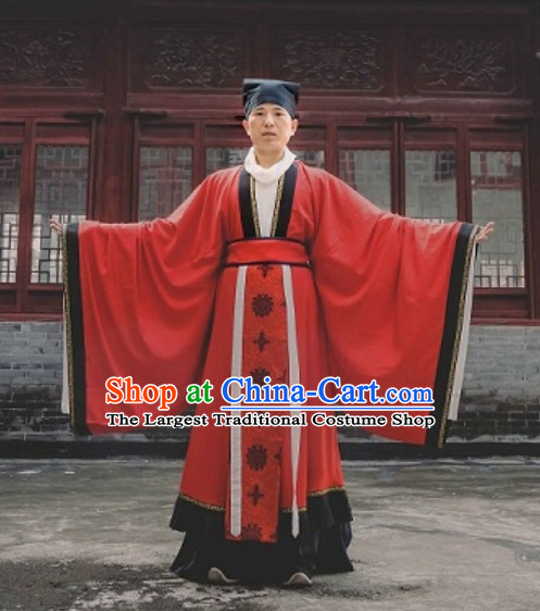 Tang Dynasty Wedding Dresses and Hat for Bridegroom