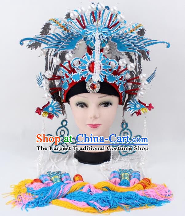 Chinese Ancient Imperial Concubine Phoenix Coronet Traditional Peking Opera Diva Headwear for Women