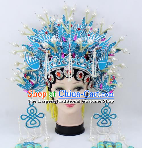 Chinese Ancient Princess Phoenix Coronet Traditional Peking Opera Artiste Headwear for Women