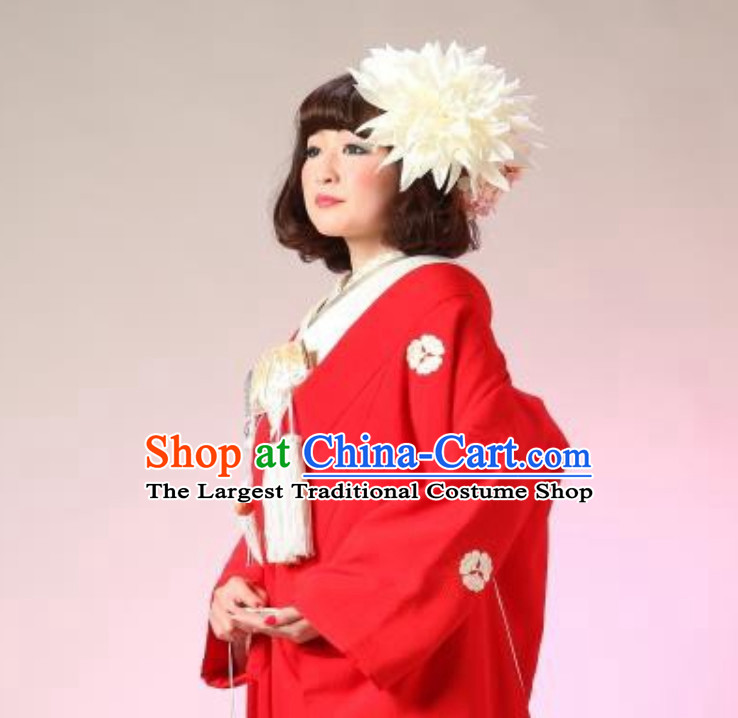 Classical Asian Hair Jewelry Handmade White Flower Headwear