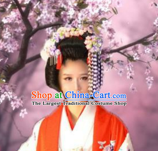 Classical Asian Hair Jewelry Handmade White Flowers Decorations Set