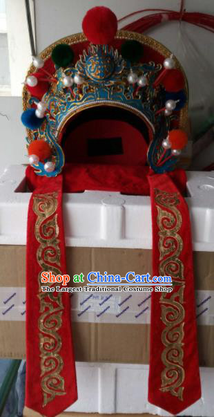 Chinese Traditional Sichuan Opera Headwear Face Changing Hat Handmade Helmet for Men