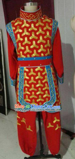 Chinese Beijing Opera Red Clothing Traditional Sichuan Opera Face Changing Costume for Men