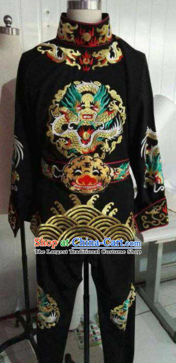 Chinese Beijing Opera Black Clothing Traditional Sichuan Opera Face Changing Costume for Men