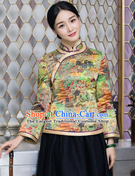 Chinese Traditional Tang Suit Upper Outer Garment Qipao Jacket National Costume for Women