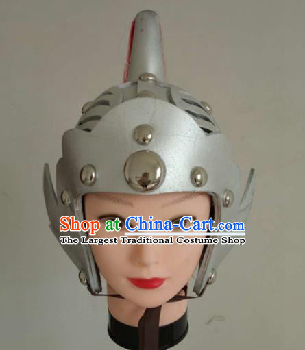 Chinese Traditional Beijing Opera Headwear Ancient Drama General Helmet for Men