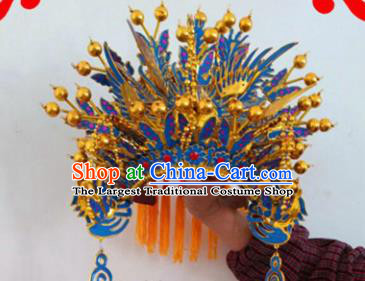 Chinese Traditional Beijing Opera Diva Headwear Ancient Imperial Concubine Phoenix Coronet for Women