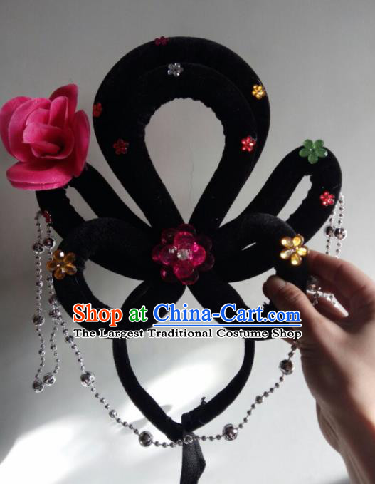 Chinese Traditional Beijing Opera Diva Headwear Ancient Peri Wigs Hair Clasp for Women