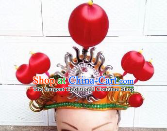 Chinese Traditional Beijing Opera General Headwear Ancient Warrior Helmet for Men
