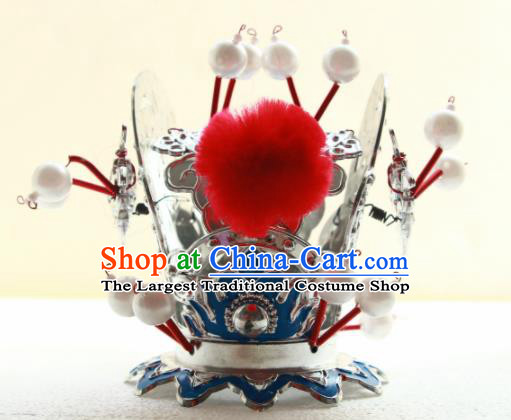 Chinese Traditional Beijing Opera Prince Headwear Ancient Swordsman Hairdo Crown for Men