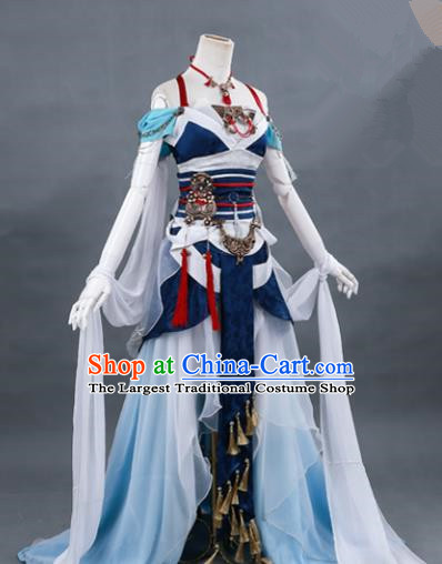 Traditional Chinese Ancient Cosplay Costume Swordswoman Hanfu Dress for Women