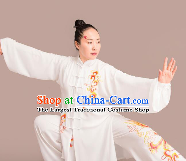 Chinese Traditional Kung Fu Competition Embroidered Costume Martial Arts Tai Chi Clothing for Women