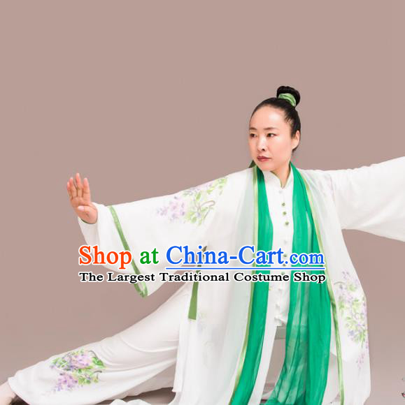 Chinese Traditional Kung Fu Costume Martial Arts Competition Tai Chi Printing Clothing for Women