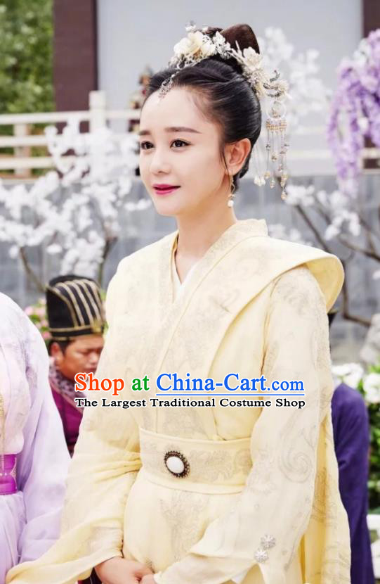 Chinese Ancient Drama Empress Hanfu Dress Northern Zhou Dynasty Queen Embroidered Historical Costume and Headpiece Complete Set