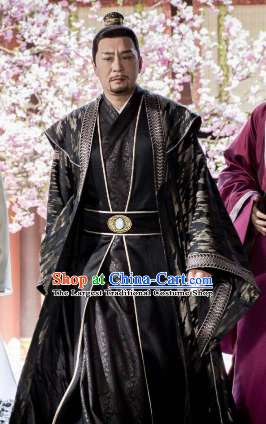 Chinese Ancient Northern Zhou Dynasty Drama Royal Highness Embroidered Historical Costume for Men