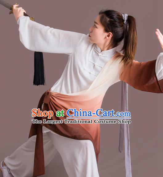 Chinese Traditional Kung Fu Competition Costume Martial Arts Tai Chi Clothing for Women