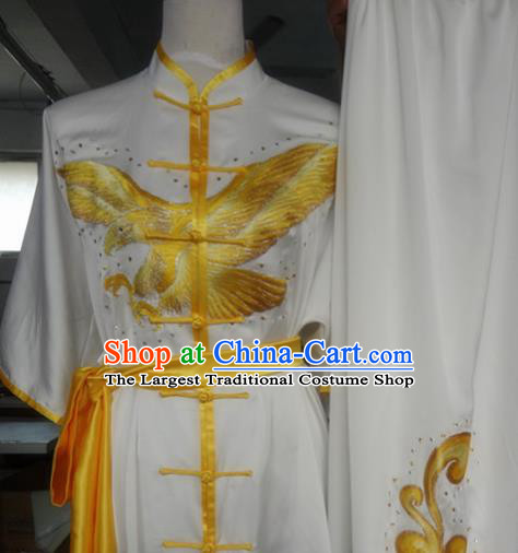 Chinese Traditional Kung Fu Costume Martial Arts Tai Chi Embroidered Eagle Clothing for Women