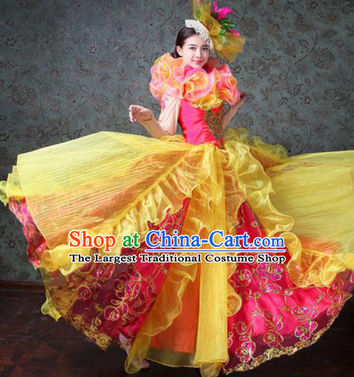 Chinese Traditional Spring Festival Gala Dance Costume Opening Dance Modern Dance Dress for Women