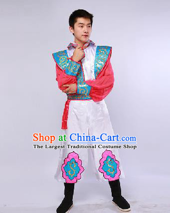 Chinese Traditional Ethnic Dance Costume Mongol Nationality Dance Stage Performance Clothing for Men