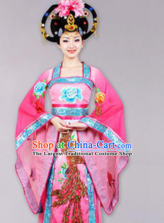 Chinese Traditional Classical Dance Costume Peri Dance Stage Performance Pink Dress for Women