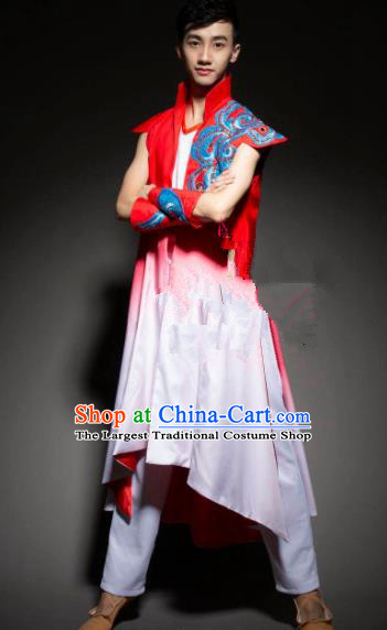 Chinese Traditional Ethnic Dance Costume Mongolian Nationality Folk Dance Stage Performance Clothing for Men
