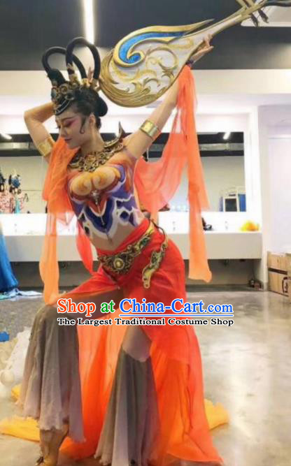 Chinese Traditional Classical Dance Costume Fairy Dance Stage Performance Dress for Women